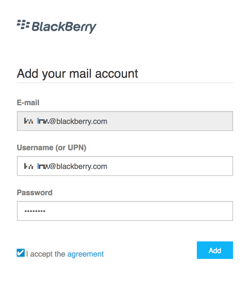 BlackBerry Access for MacOS - Setting up BlackBerry Work and